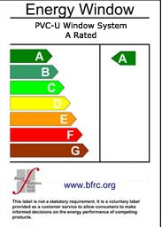 A rated energy efficient UPVC windows
