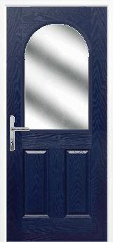 Blue 2 Panel 1 Arch Composite Door