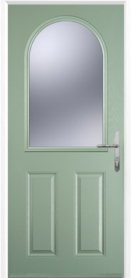 Chartwell Green 2 Panel 1 Arch Composite Door