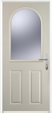 Cream 2 Panel 1 Arch Composite Door
