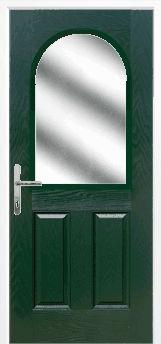 Green 2 Panel 1 Arch Composite Door