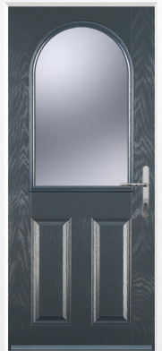 Grey 2 Panel 1 Arch Composite Door