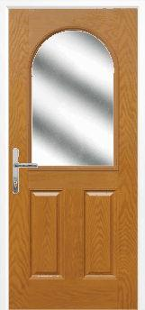 Oak 2 Panel 1 Arch Composite Door