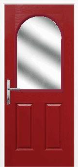 Red 2 Panel 1 Arch Composite Door