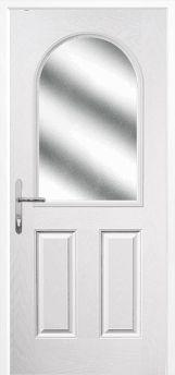 White 2 Panel 1 Arch Composite Door