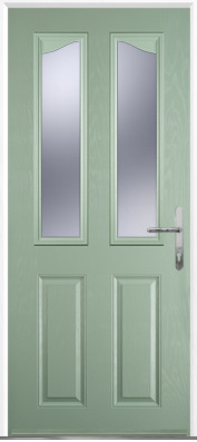 Chartwell Green 2 Panel 2 Angle Composite Door
