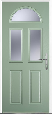 Chartwell Green 2 Panel 2 Square 1 Arch Composite Door