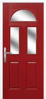 Red 2 Panel 2 Square 1 Arch Composite Door