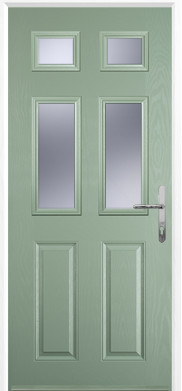 Chartwell Green 2 Panel 4 Square Composite Door