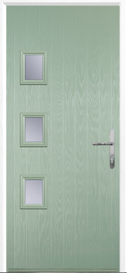 Chartwell Green 3 Square Composite Door