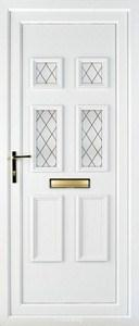 Ashley 4 Diamond Lead UPVC Door
