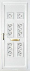 Ashley 6 Diamond Lead UPVC Door