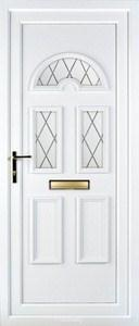 Muir 3 Diamond Lead UPVC Door