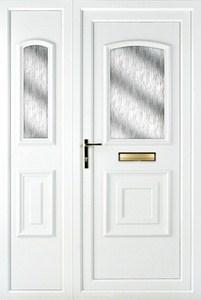 Quant Obscure UPVC Door with Side Panel