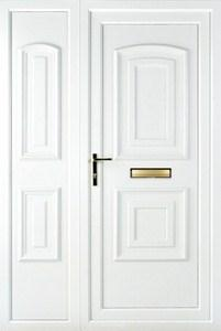 Quant Solid UPVC Door with Side Panel